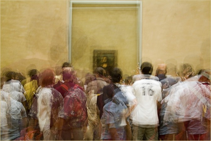 Photo Impressionistic Multiple Exposure Image- In Front of the Mona Lisa - Stephen D'Agostino