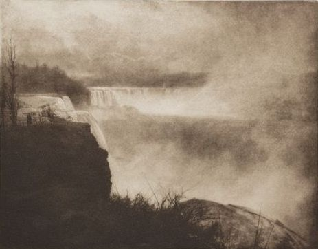 Niagara, a photograph of Niagara Falls (from the Canadian side) by English photographer Alfred Horsley Hinton (1863–1908).