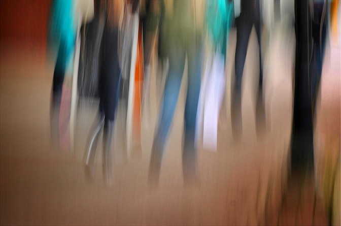 photo impressionistic image - One afternoon on Water Street. (ICM) by Bob Crutcher